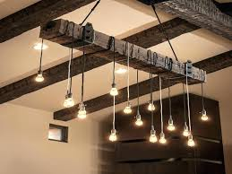 barn wood chandelier wooden beam light fixture awesome and pulley angle mountain rustic lighting ideas reclaimed winsome woo