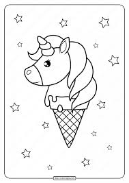 I am crazy about cookie and raspberry chocolate mix although yesterday i ate the most i can just imagine how these sheets will be colored and i bet all of them will be looking delicious! Printable Unicorn Ice Cream Cone Coloring Page