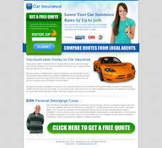 previous next car insurance zip submit converting landing page design
