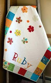 Personalized Baby Quilts Blankets Customized Baby Quilts Girls ... & Personalized Baby Quilts Blankets Customized Baby Quilts Girls Patchwork  Quilt Baby Girl Blanket Floral Stroller Blanket Adamdwight.com