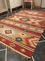 kashi geometric multi colour wool kilim rug