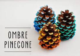 40 creative pinecone crafts for your holiday decorations diy ombre pinecones