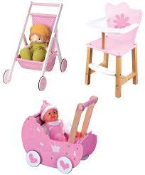 lelin wooden princess doll pram buggy pushchair children girls pretend play co uk toys
