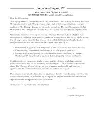 Physical Therapist Assistant Cover Letter Physical Therapist Cover