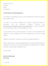 Formal Complaint Letter Template Form Free Legal Best Of