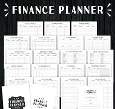 Bill Payment Organizer Template Bill Planning Template Monthly Organizer Free Printable Budget