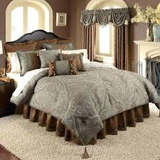 brown paisley bedding gray blue and brown paisley comforter set by