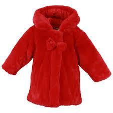 absorba faux fur coat red