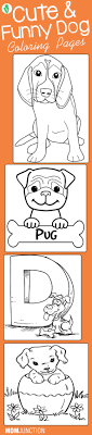 25 Cute Funny Dog Coloring Pages