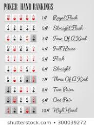 Printable Poker Hands Chart Poker Hand Ranking Images Stock Photos Vectors Shutterstock