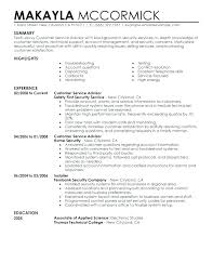 Customer Service Advisor Resume Example Sample Spacesheep Co