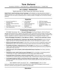 Template Account Manager Resume Sample Monster Com Senior Management