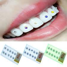 tooth jewels crystal teeth stones heart shaped gems kit 6 35