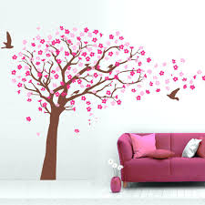 cherry blossom branch wall decal tree wall decals nursery cherry tree  stencils pink wall zoom wall .