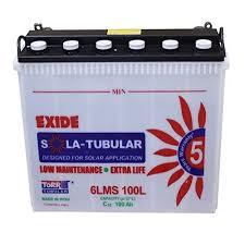 Exide Solar Battery 100ah 6lms100l