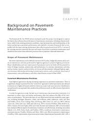 chapter background on pavement maintenance practices  page 5