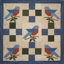 108 best Birds - Paper Pieced Foundation images on Pinterest ... & New Pattern Paper Pieced 40x40 Blue Bird Quilt | eBay Adamdwight.com