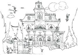 Tree House Coloring Pages Printable Haunted Printables Loud Hardy