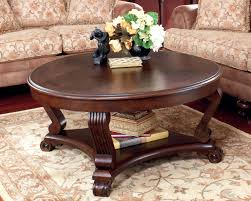 coffee table and end tables for brookfield traditional dark rustic wood round weathered refurbished huge