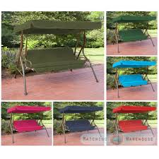 replacement 3 seater swing seat canopy cover and cushions set garden hammock