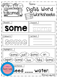 Sight Word Worksheets First Grade. Inside you will find 41 Sight ...