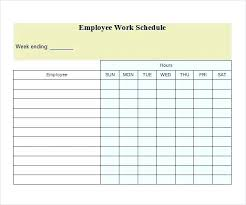 Free Monthly Schedule Template Employee Scheduling Calendar Template