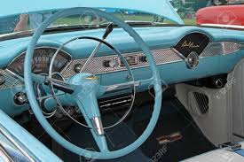 CONCORD, NC - SEPTEMBER 21 Interior Of A 1955 Chevy Bel Air ...