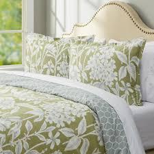 nature fl pattern cotton 3 piece comforter set in sage color king size