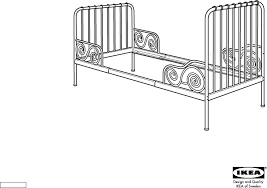 Download IKEA MINNEN EXTENDABLE BED FRAME 38X75