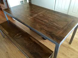 Solid Walnut Dining Room Table  Bench  SLARVE DESIGN - Walnut dining room furniture