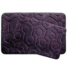 plum bathroom rugs hexagon plum in x in memory foam bath mat set 2 plum colored