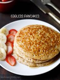 eggless pancakes recipe whole wheat