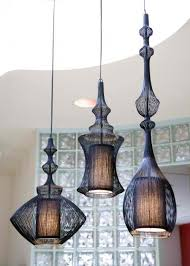 home lighting fixtures. Ethnic And Traditional Pendant Light Fixtures In Black Color Unique Shape Home Lighting N