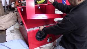Benchtop Blast Cabinet Harbor Freight 40lb Blast Cabinet Assembly And Review Youtube