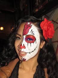 face painting sugar skulls dia de los muertos