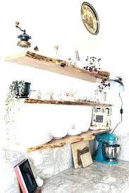 Raw Wood Floating Shelves Stunning Wood Shelf For Kitchen Floating Shelves Kitchen Raw Wood Shelf Size