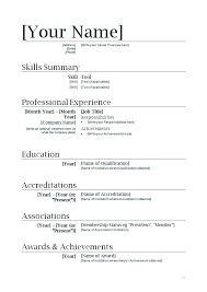 Simple Resume Format In Word Stunning Example Of A Basic Resume Accounting Resume Sample A Basic Resume