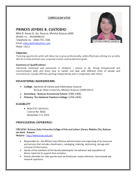 A Cv For Job Samples Format Example Resume Present Imagine Include