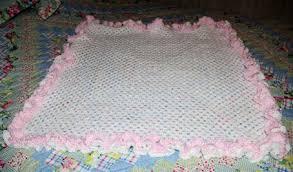 Free Crochet Baby Afghan Patterns Simple Double Ruffle Granny Baby Afghan Crochet Pattern Free Crochet