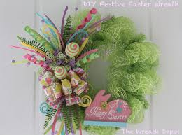 in this diy mesh easter wreath tutorial we will use soft pastel colors ribbon a couple of eggs and a pretty pink bunny to make a lovely happy easter