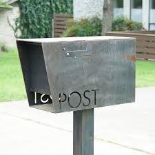 custom metal mailbox. Wonderful Mailbox Dexter Custom Modern Mailbox Bold MFG Throughout Metal D