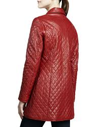 Neiman Marcus Quilted Long Leather Jacket & Quilted Long Leather Jacket Adamdwight.com