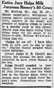 Trial of Virgil Gibbs regarding death of William Stamper - Newspapers.com