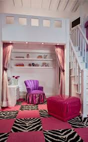 amazing teenage girls bedroom ideas with pink ottoman and zebra feat area rugs also white wooden staircase teen best inspiring for clearance kids western