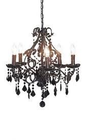6 arm black palais chandelier