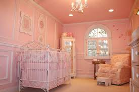 luxury baby room ideas in hot pink theme mixed with small corner drawer and white