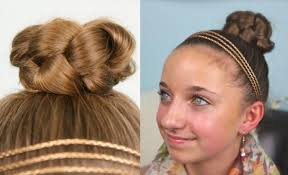 Bows In Hair Style simple braided bun cute girls hairstyles cute girls hairstyles 4642 by wearticles.com