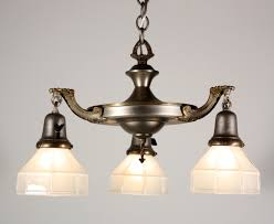 antique chandelier glass shades