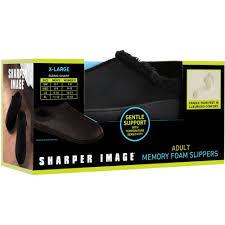 Sharper Image Unisex Men Womens Memory Foam Slippers Gentle Support Temperature Sensitivity