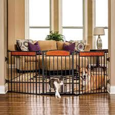 dog gates for house. Long Dog Gates For The House Beautiful Carlson Design Paw Arched Flexi Pet Gate Deluxe